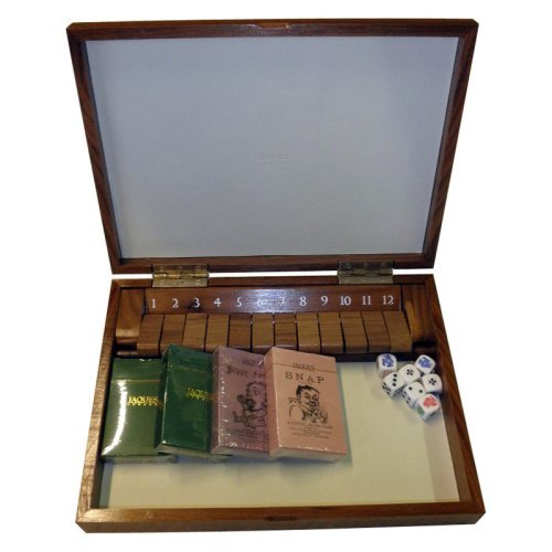 Jaques Shut the Box With Lid Compendium - Grand Black Walnut
