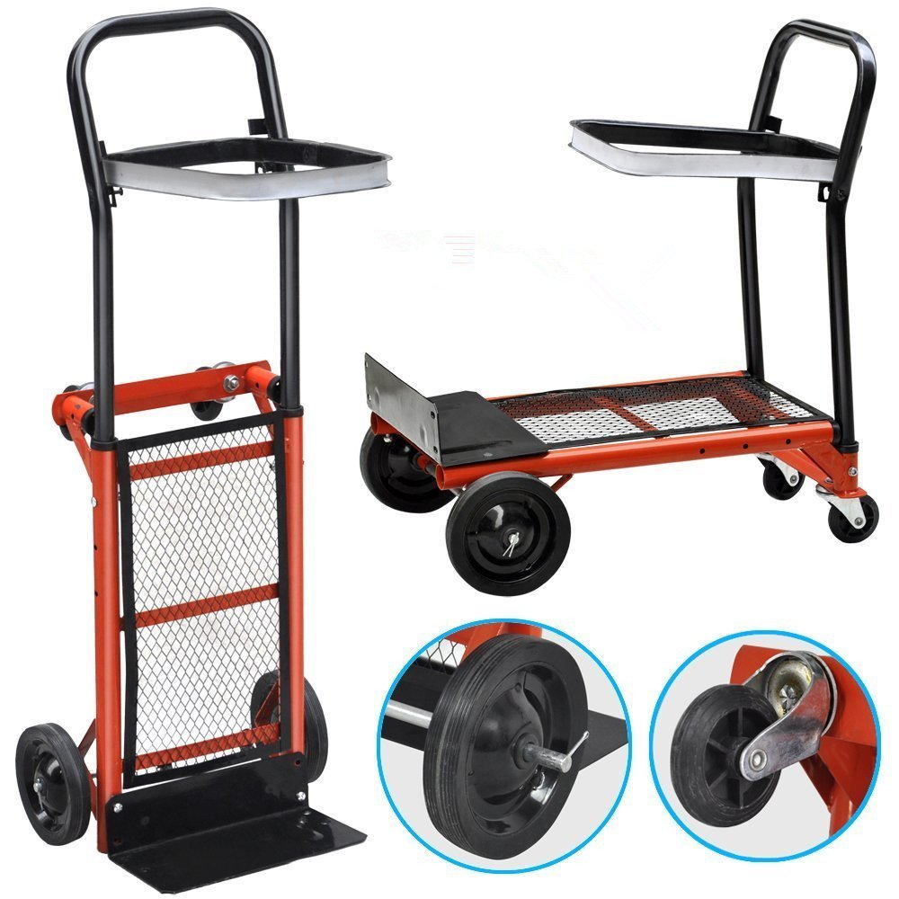 Estink Heavy Duty Folding Hand Truck Collapsible Moving Warehouse Home Garden Rolling Cart,80KG/177lbs