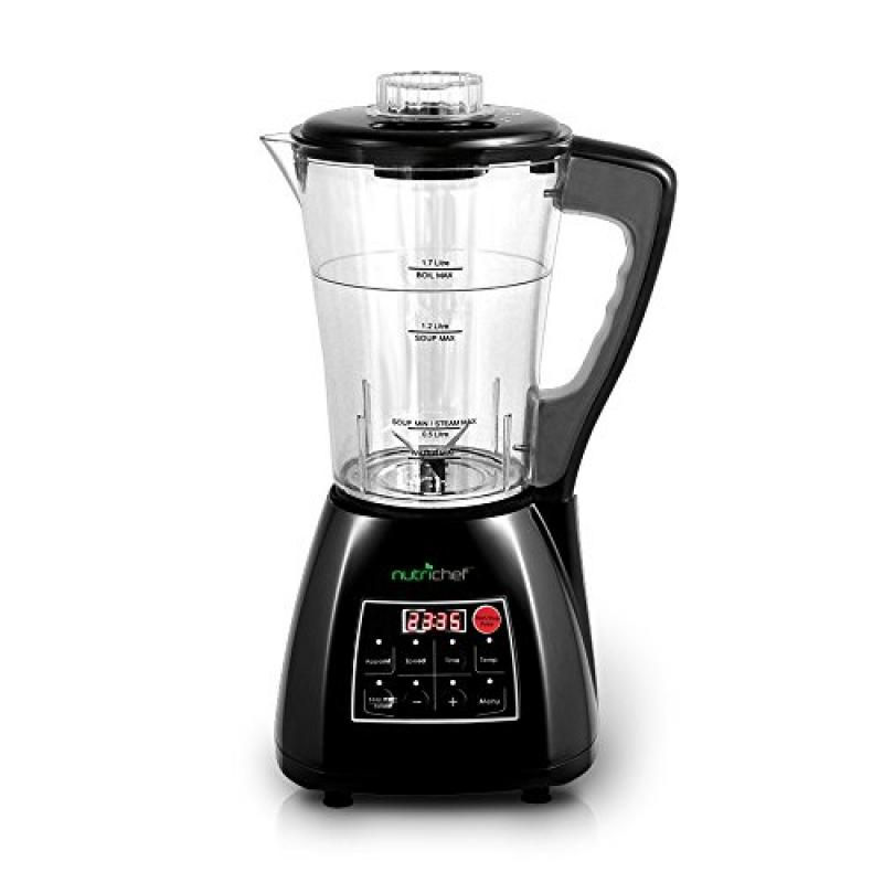Upgraded NutriChef Pro Soup Maker & Blender | Multifunction Machine | Hot and Cold, Juicer,