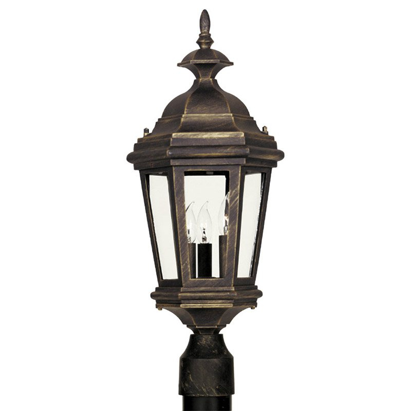 Kenroy Home 16316AP Estate Outdoor Post Lantern - 23H in. Antique Patina Finish