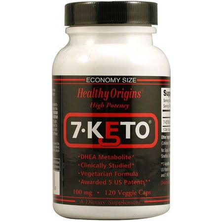 Healthy Origins 7-ceto DHEA metabolitos 100 mg - 120 cápsulas vegetales