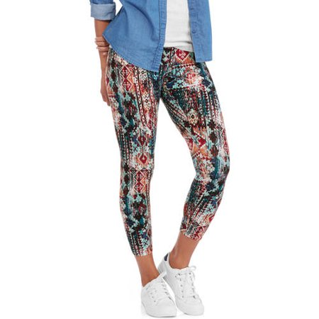Faded Glory Printed Women's Capri Legging
