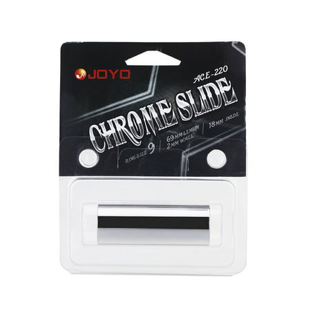 Guitar Tone Bar - Joyo ACE-220 Guitar Slide Bass Cylinder Tone Bar Chrome-plated Stainless Steel Metallic