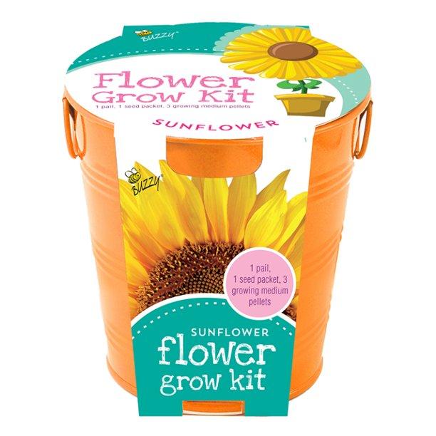 Buzzy Reg 95204 Kids Flower Grow Painted Pail Kit Sunflower Walmart Com Walmart Com
