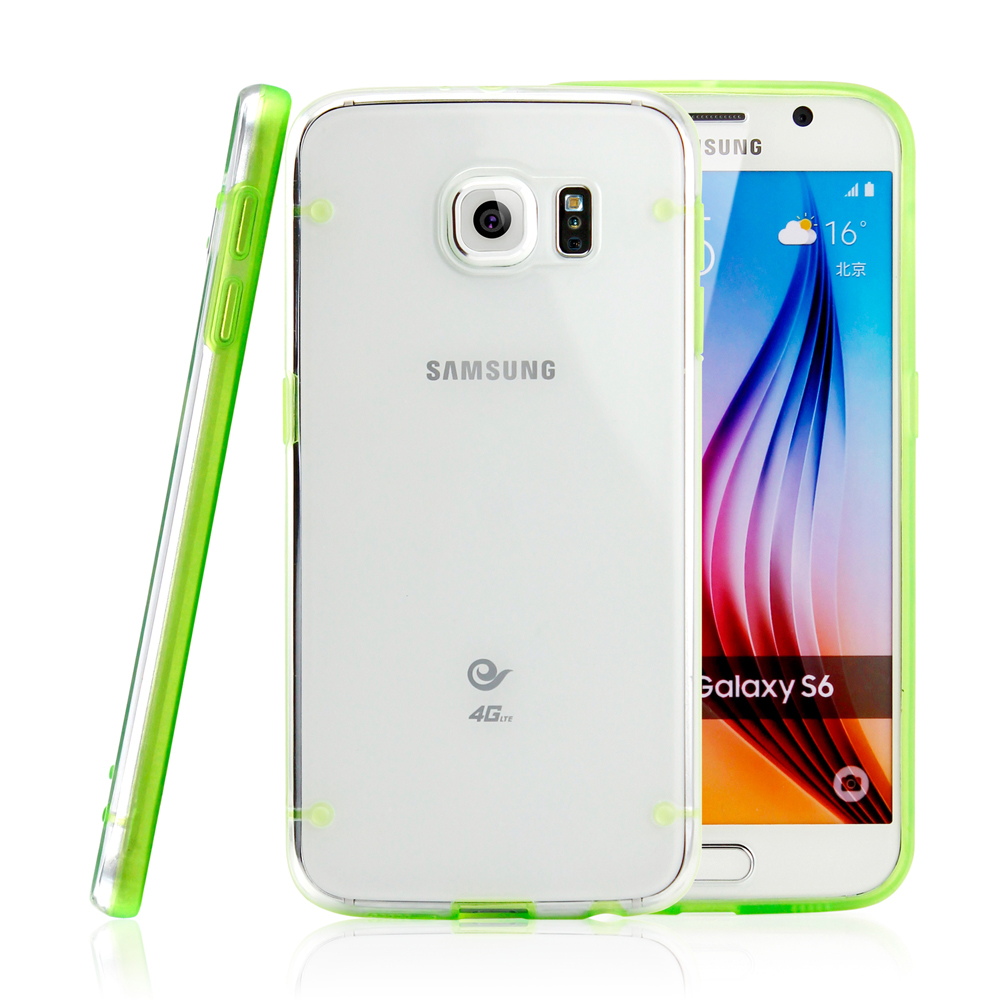 Slim Transparent Crystal Clear Hard TPU Cover Luminous Glow in the Dark Case for Samsung Galaxy S6