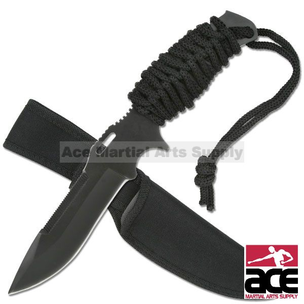 "Click here to buy 9"" Sawback Survival Knife."