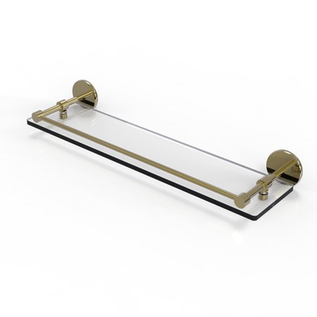 22 Inch Tempered Glass Shelf with Gallery Rail
