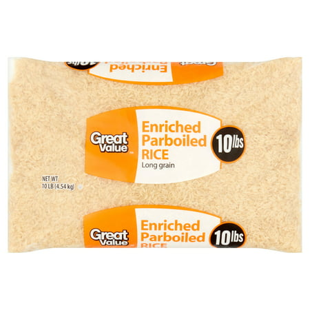 Great Value Enriched Parboiled Rice  10 Lb