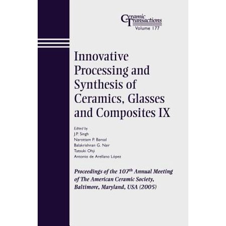 Innovative Processing and Synthesis of Ceramics, Glasses and Composites IX : Proceedings of the 107th Annual Meeting of the American Ceramic Society, Baltimore, Maryland, USA (Glasses Direct Usa)