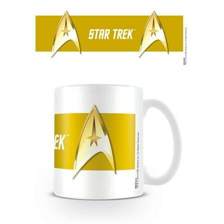Star Trek - Ceramic Coffee Mug / Cup (Starfleet Insignia On Yellow Background) - T-rex Merchandise