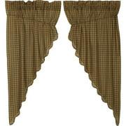 Barrington Prairie Curtain Scalloped Lined Set of 2 63x36x18