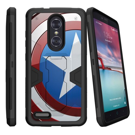 sports shoes 6fda6 0290e ZTE Zmax Pro Case | ZTE Zmax Pro Holster Case | Zmax Pro Phone Case [Max  Defense] Dual Layer Case with Built In Kickstand + Belt Clip - America  Shield ...