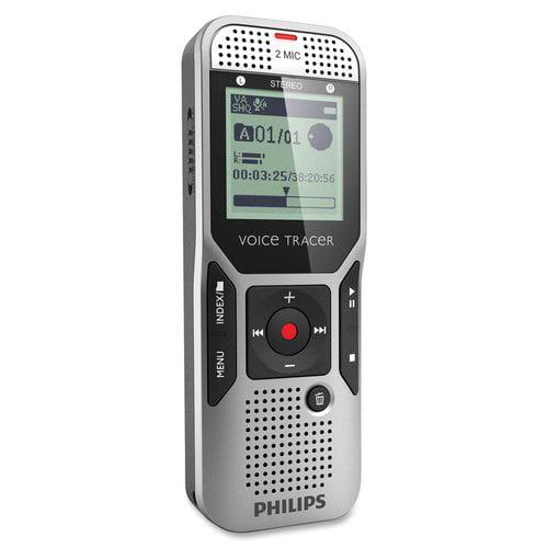 Philips PSPDVT140000 Digital Voice Recorder, 4GB, 1. 6 in...