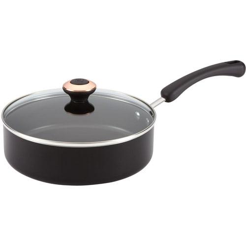 Paula Deen 3-Quart Covered Saute Pan, Black