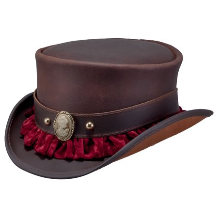 New American Hat Makers Marlow Portrait Band Leather Top Hat - Walmart.com cda1bebc0ccc