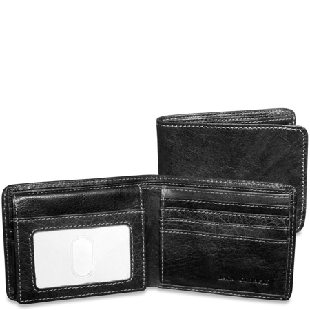 Jack Georges Voyager Bifold Wallet with ID Flap in (Jack Georges Hipster Wallet)