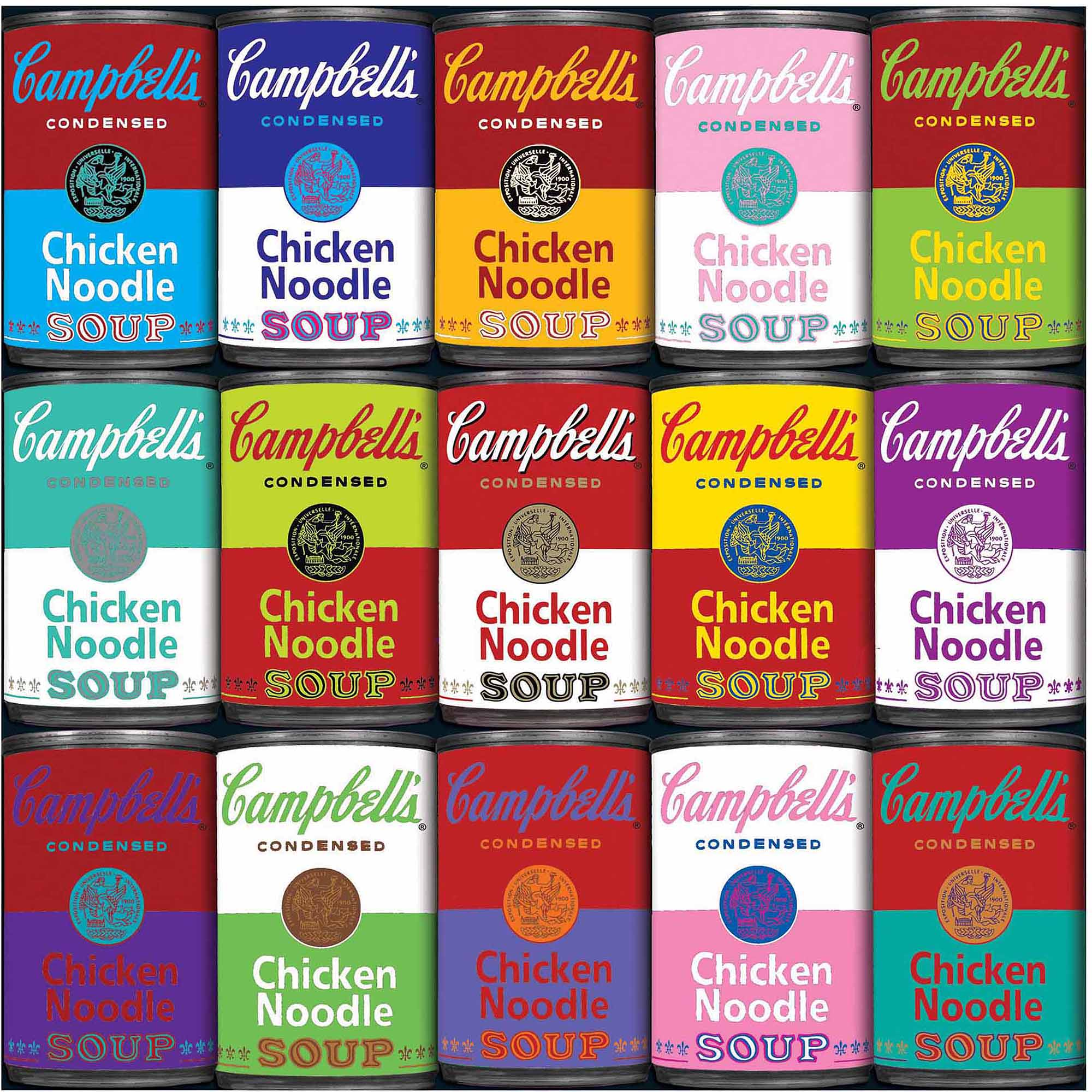 """World's Most Difficult Jigsaw Puzzle 500 Pieces 15""""X15""""-Campbell's Souper Hard"""