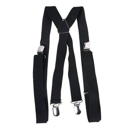 Child's Gangster or Clown Costume Black Suspenders (Gangster Black)