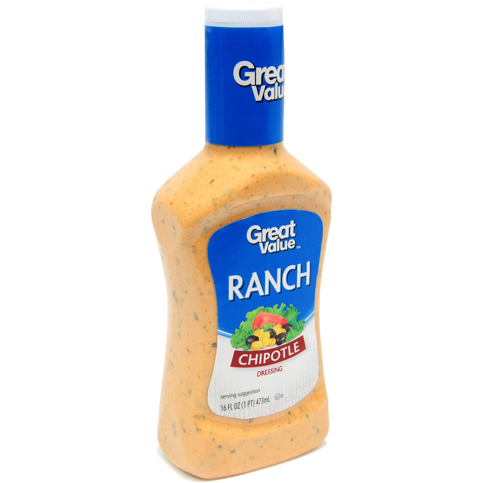 Great Value Chipotle Ranch Dressing & Dip, 16 oz