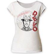 devo new wave rock band q: are we not men? juniors cut t-shirt tee