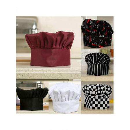 Unisex Comfortable Adjustable Kitchen Baker Chef Cap Elastic Catering Cook - Chef Cap