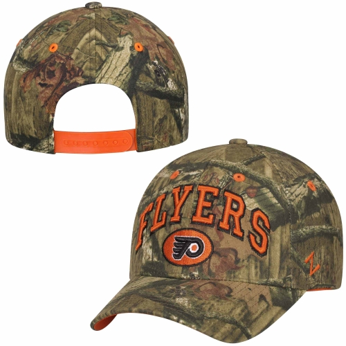 Philadelphia Flyers Zephyr Sport Snap Adjustable Hat - Mossy Oak Camo - OSFA