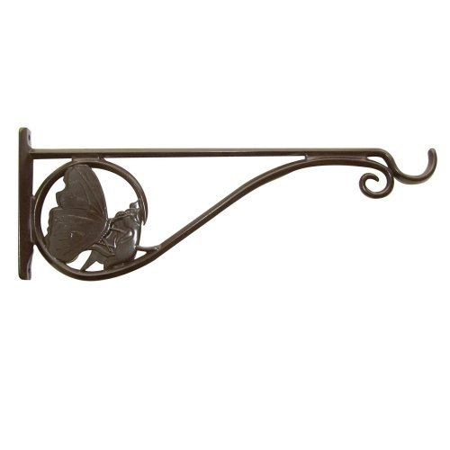 PANACEA PRODUCTS CORP 15-Inch Brown Butterfly Hanging Plant Bracket