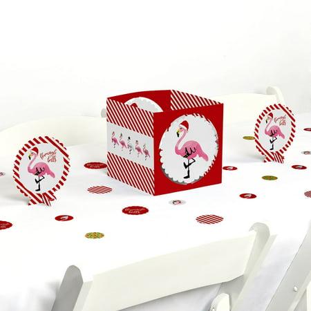 Flamingle Bells - Tropical Flamingo Christmas Party Centerpiece & Table Decoration Kit