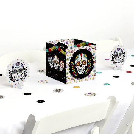 Day Of The Dead - Halloween Sugar Skull Party Centerpiece & Table Decoration Kit - Halloween Food Table Decorations