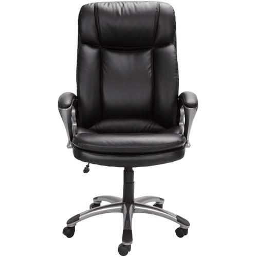 serta executive big tall puresoft office chair smooth black