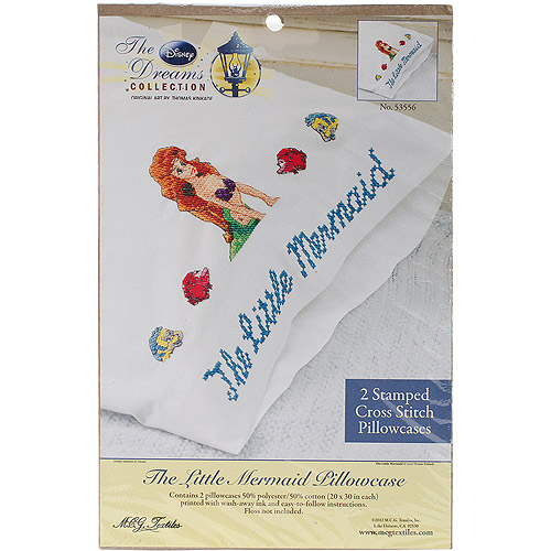 "Disney Dreams 20"" x 30"" Stamped Pillowcases, The Little Mermaid"
