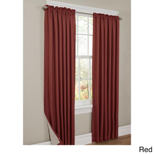 Renda Thermal Shield Lined Energy 84 inch Curtain Panel Red
