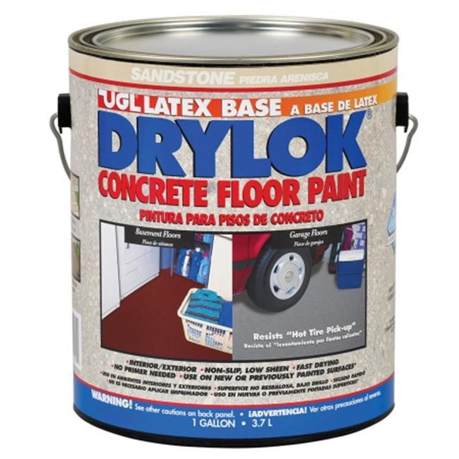 United Gilsonite 1 Gallon Sandstone Drylok Latex Base Concrete Floor Paint Low - Pack of 2