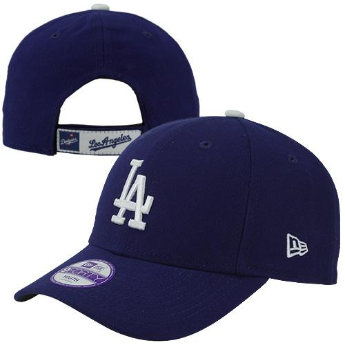 Los Angeles Dodgers New Era Youth The League 9FORTY Adjustable Hat - Royal - No Size