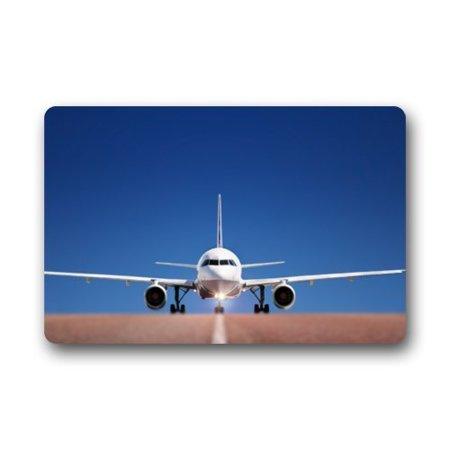 WinHome Boeing Runway Aircraft Plane Doormat Floor Mats Rugs Outdoors/Indoor Doormat Size 23.6x15.7 inches (Runway Mat)