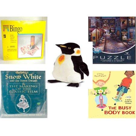 Children's Gift Bundle [5 Piece] -  Pavilion Bingo  - Paris At Night   - Melissa & Doug Penguin Large  24