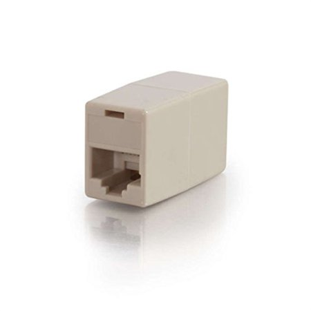 C2G/Cables to Go 01937 RJ45 8-Pin Modular Straight Through Inline Coupler, Ivory