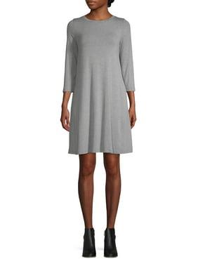 Women's 3/4 Sleeve Swing Dress
