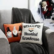 "Way to Celebrate Halloween Icon Square Decorative Pillow Set, 2 CT, 14"" x 14"""