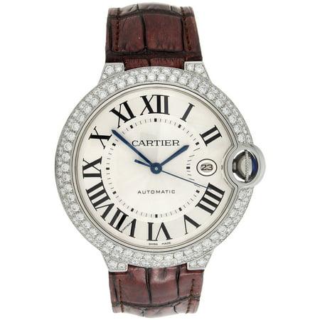 Ballon Bleu De Cartier 42mm Mens Silver Dial Diamond Watch Ref. W69016Z4 3.50 CT