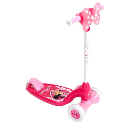 Huffy Girls' Disney Minnie Lights and Sounds Preschool Scooter by