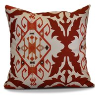 E by Design HH Revival Bombay Print Outdoor Pillow