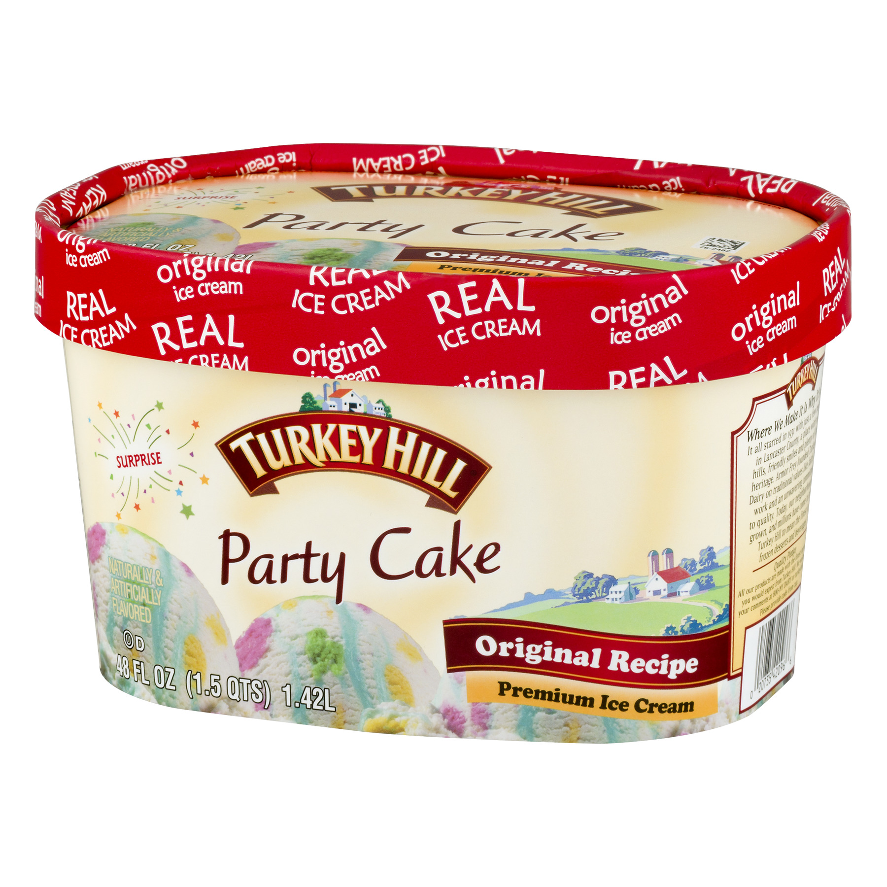 Turkey Hill Party Cake Premium Ice Cream 15 Qt Walmart