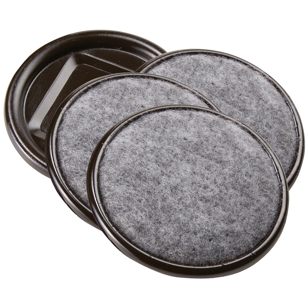 "Waxman Consumer Group 4291295N 2-1/2"" Gray Round Carpet Caster Cups, 4 Count"