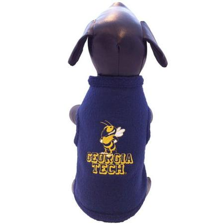 NCAA Georgia Tech Yellow Jackets Collegiate Cotton Lycra Hooded Dog Shirt Team Color Medium
