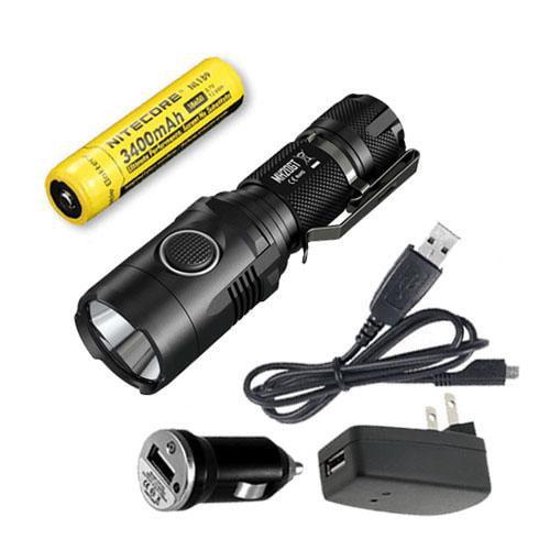Nitecore MH20GT Rechargeable Flashlight CREE XP-L HI V3 LED -1000Lm w/ NL189 Battery  and  USB Adaptors