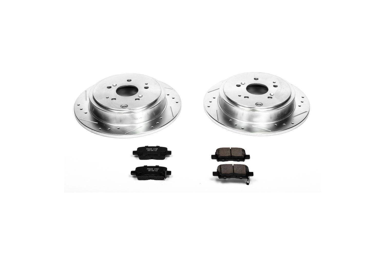 Power Stop K6601 Front Brake Kit with Drilled//Slotted Brake Rotors and Z23 Evolution Ceramic Brake Pads