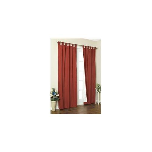 Commonwealth Home Fashions 70292-153-500-95 Thermalogic Insulated Solid Color Tab Top Curtain Pairs 95 inch, Terracotta