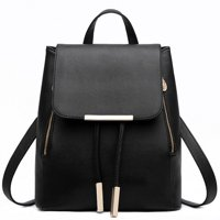 Women's PU Leather Backpack Shoulder Bag Rucksack Travel Bag