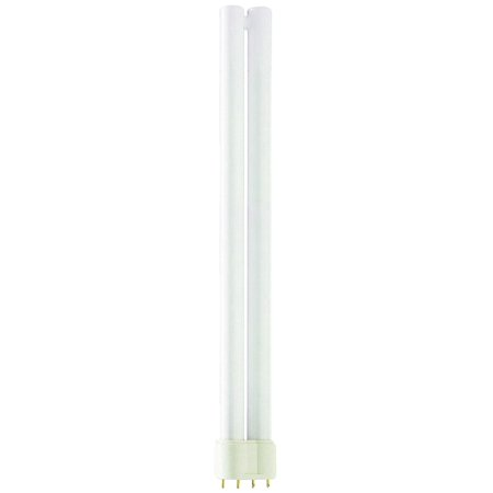 Luxrite LR20430 (2-Pack) PL-L24W/830 24-Watt Twin Tube Compact Fluorescent Light Bulb, Soft White 3000K, 1400 Lumens, 2G11 4-Pin Base